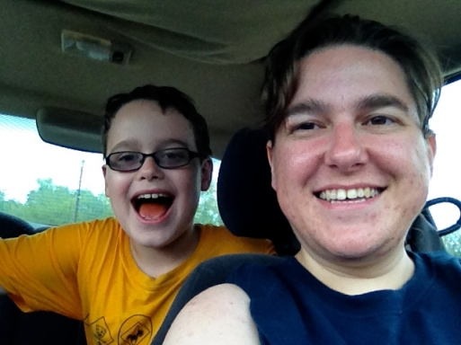 My son and I were soaked to the bone from the Cub Scout hike, but still had a great time!